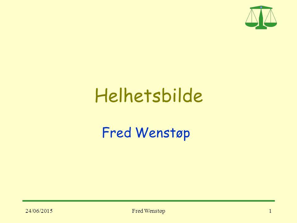 Helhetsbilde Fred Wenstøp 17/04/2017 Fred Wenstøp