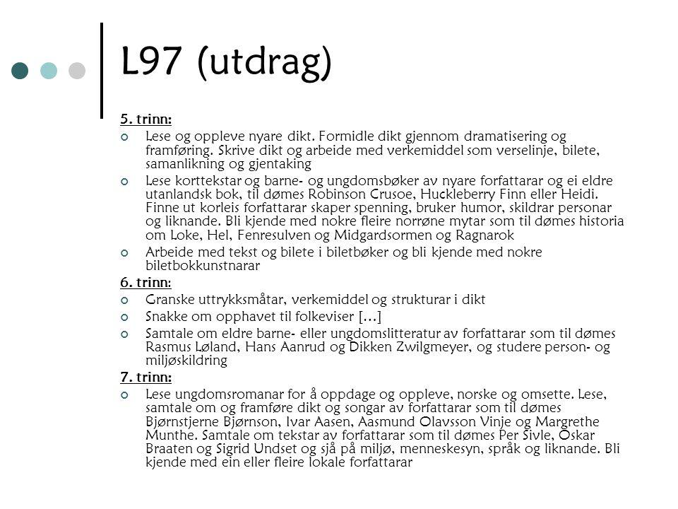 L97 (utdrag) 5. trinn: