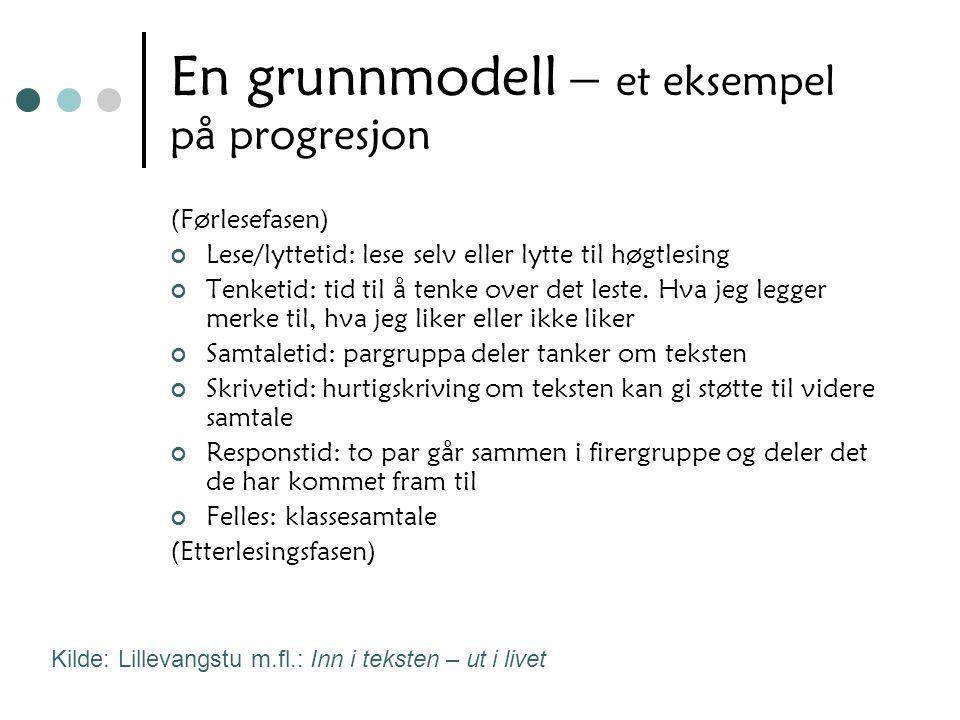 En grunnmodell – et eksempel på progresjon