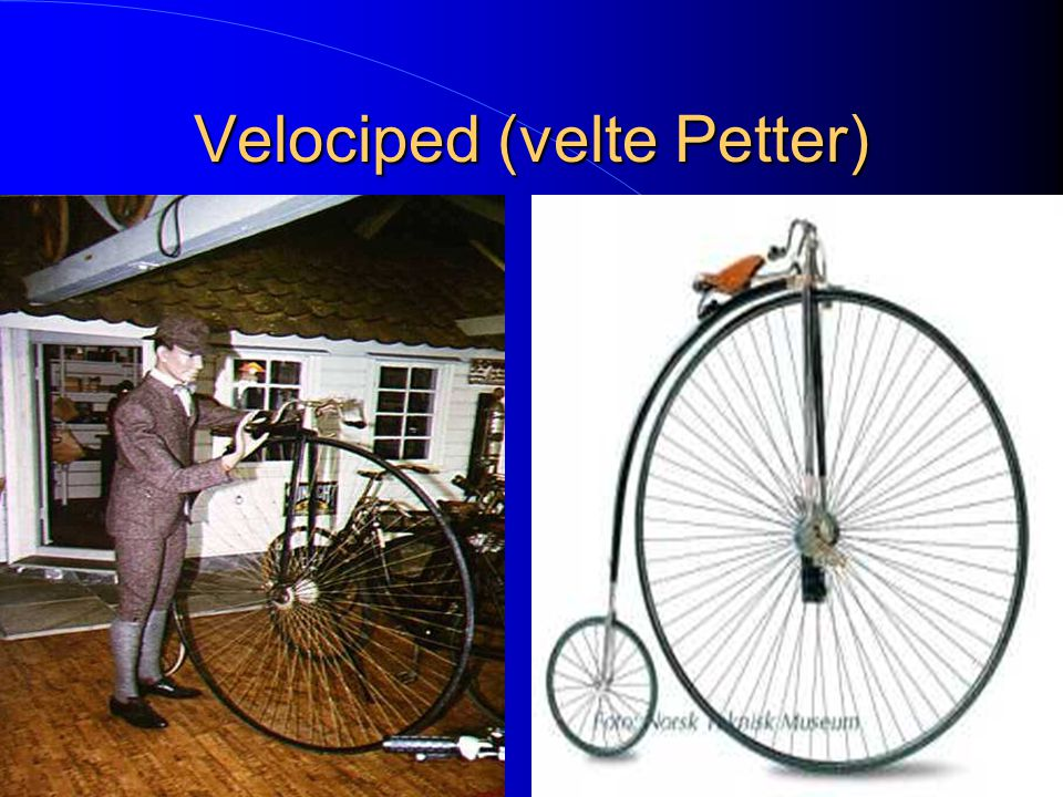 Velociped (velte Petter)