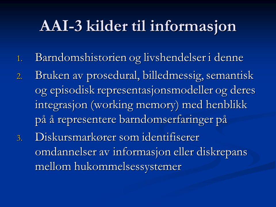 AAI-3 kilder til informasjon