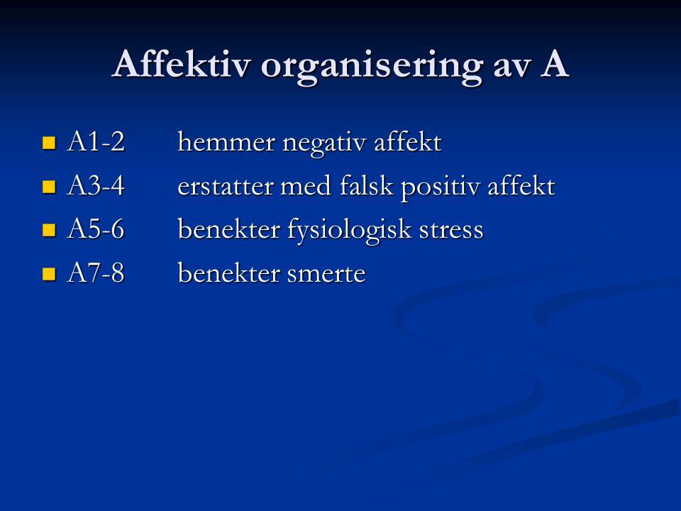Affektiv organisering av A
