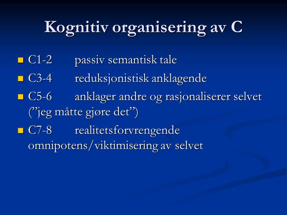 Kognitiv organisering av C