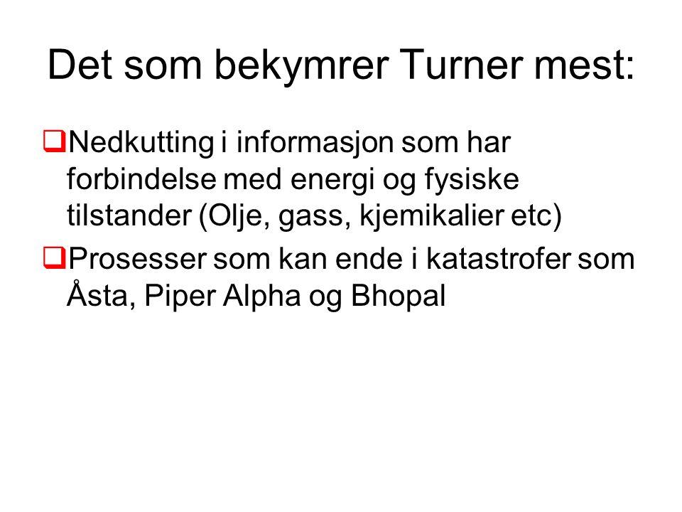 Det som bekymrer Turner mest: