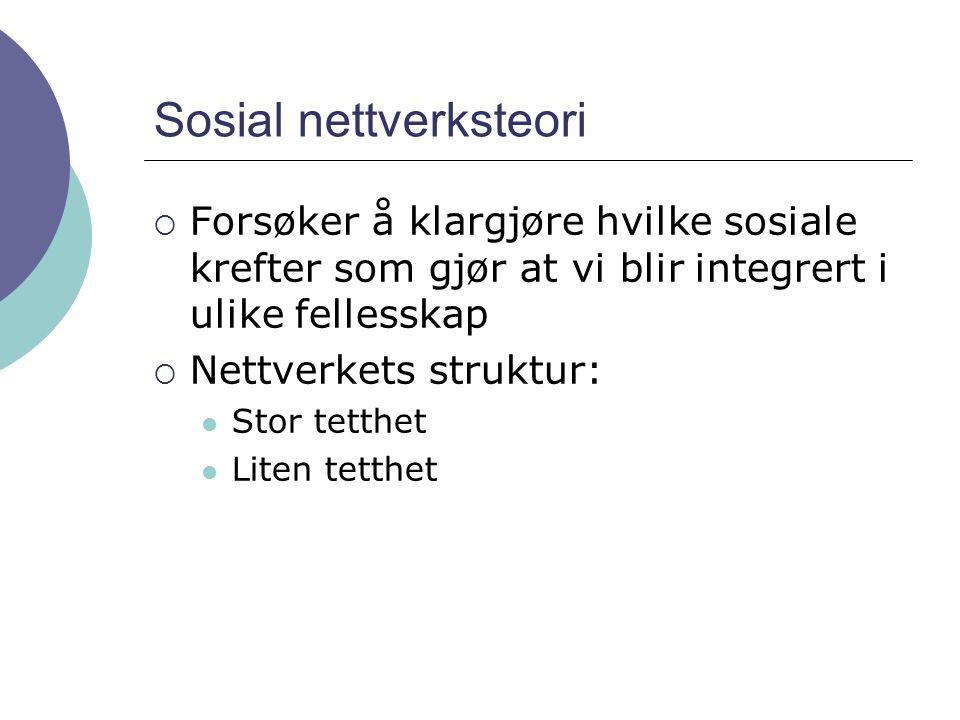 Sosial nettverksteori