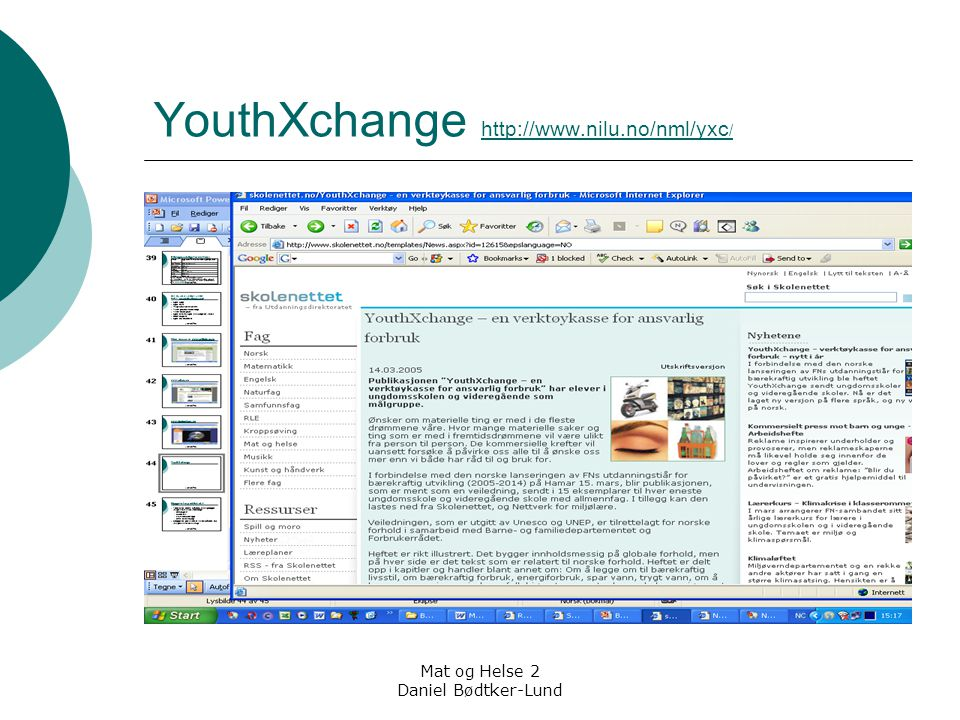 YouthXchange http://www.nilu.no/nml/yxc/