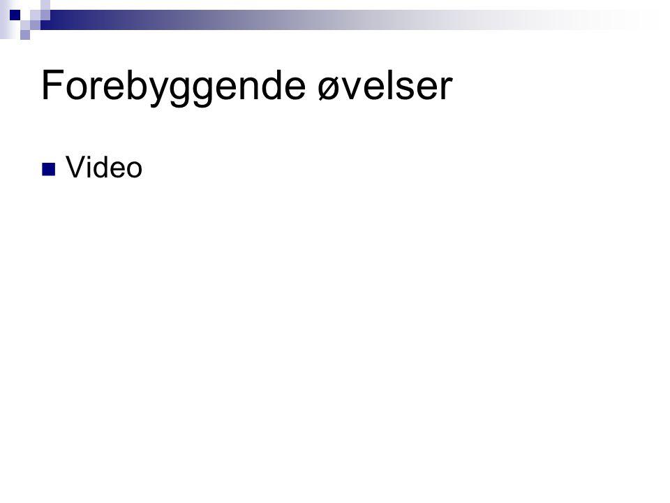 Forebyggende øvelser Video