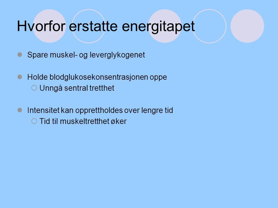 Hvorfor erstatte energitapet