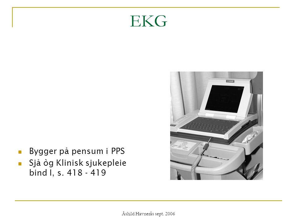EKG Bygger på pensum i PPS