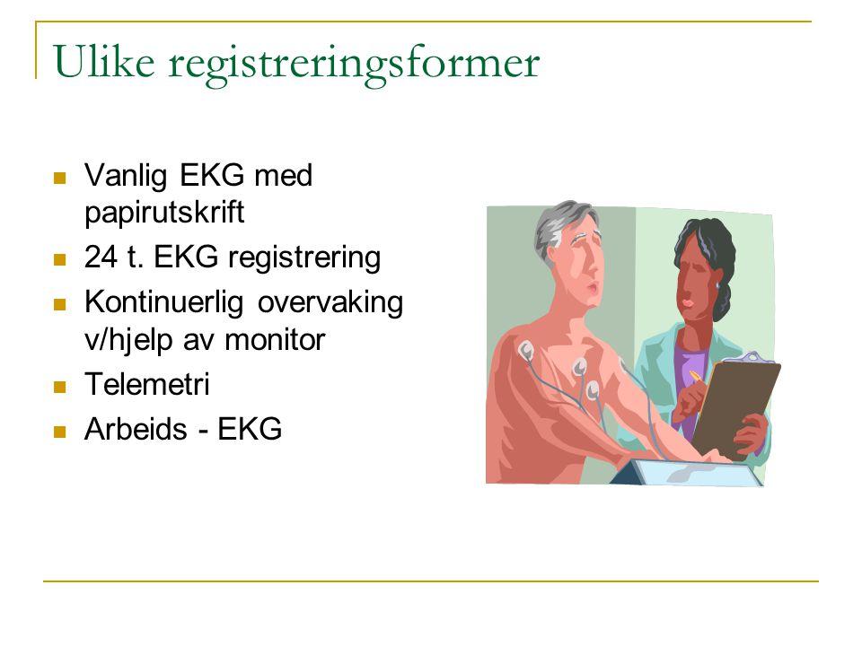 Ulike registreringsformer