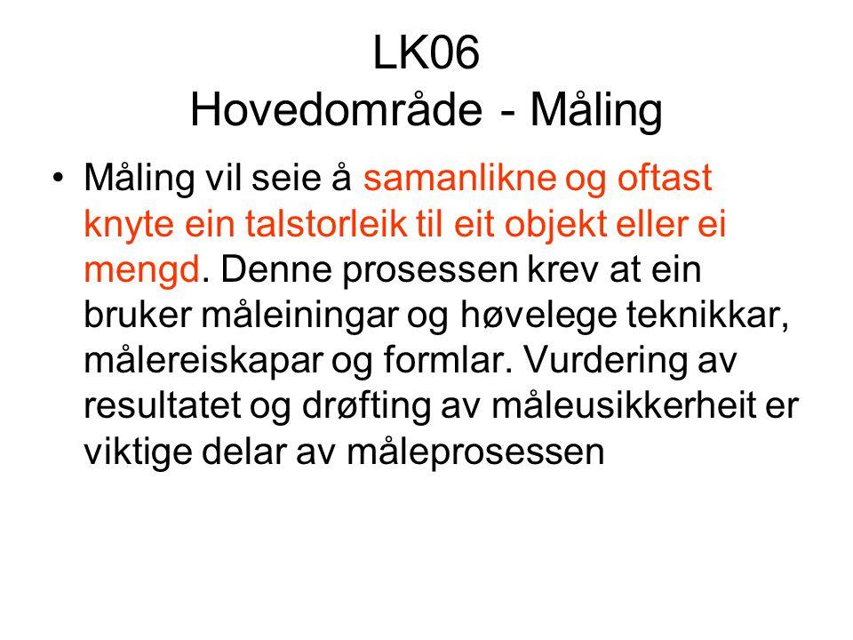 LK06 Hovedområde - Måling
