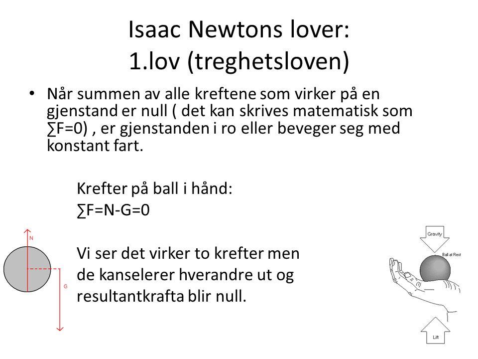 Isaac Newtons lover: 1.lov (treghetsloven)