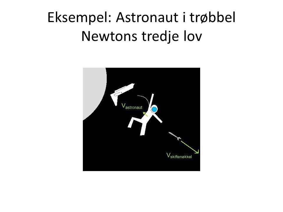 Eksempel: Astronaut i trøbbel Newtons tredje lov