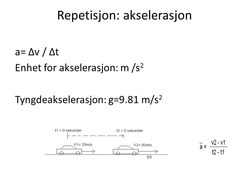 Repetisjon: akselerasjon