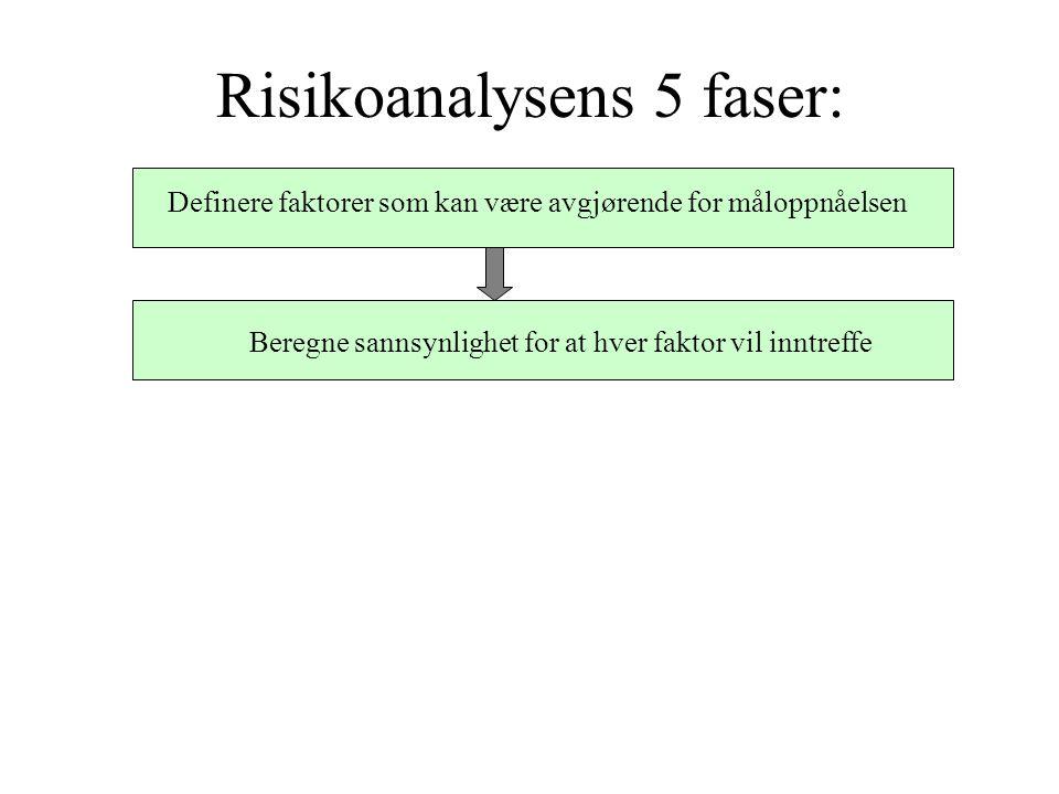 Risikoanalysens 5 faser: