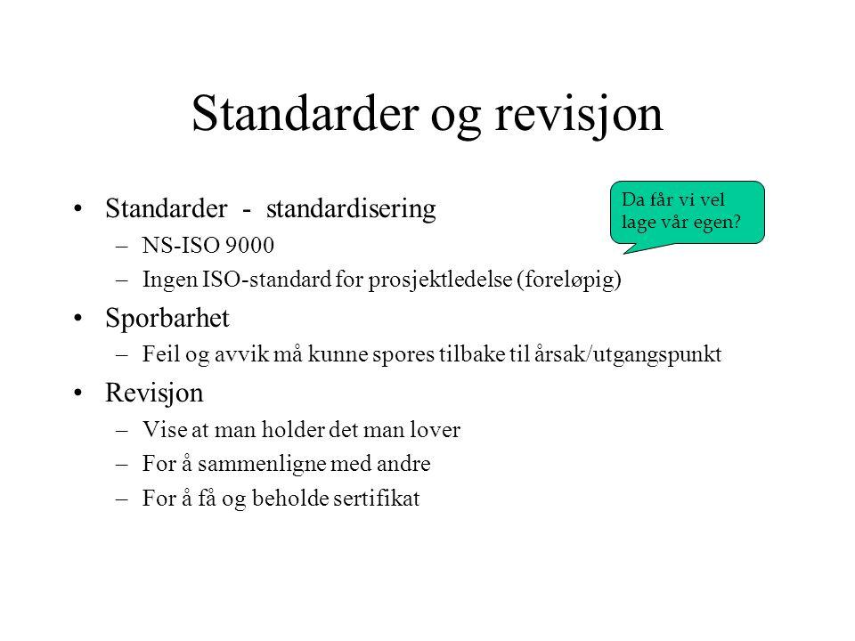 Standarder og revisjon