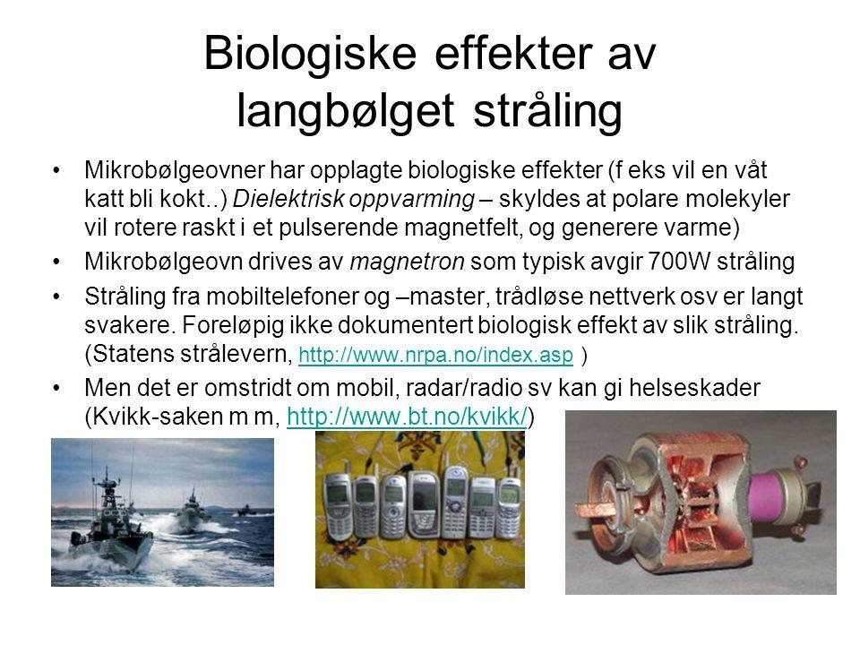 Biologiske effekter av langbølget stråling