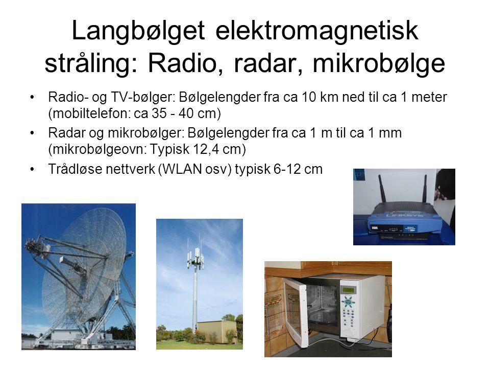 Langbølget elektromagnetisk stråling: Radio, radar, mikrobølge