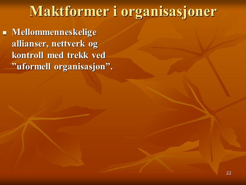 Maktformer i organisasjoner