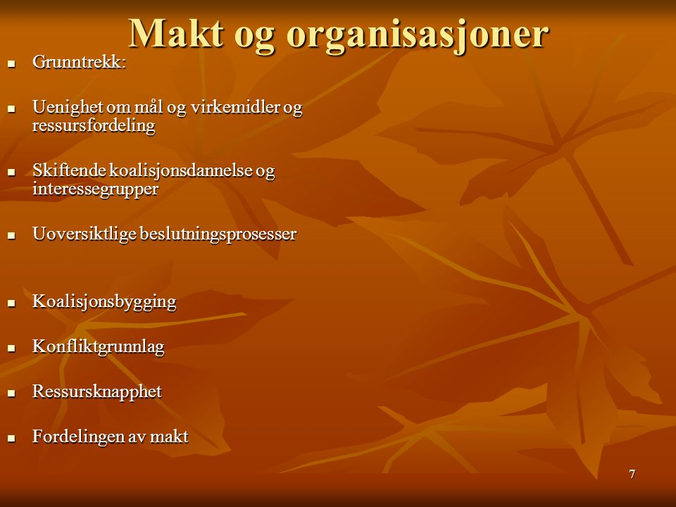 Makt og organisasjoner