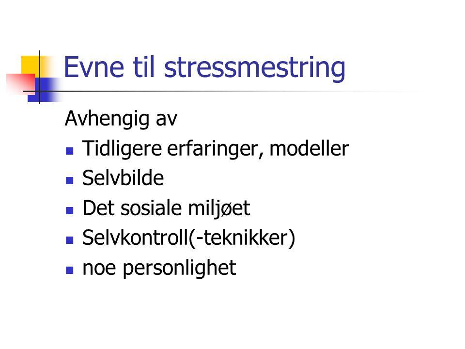 Evne til stressmestring