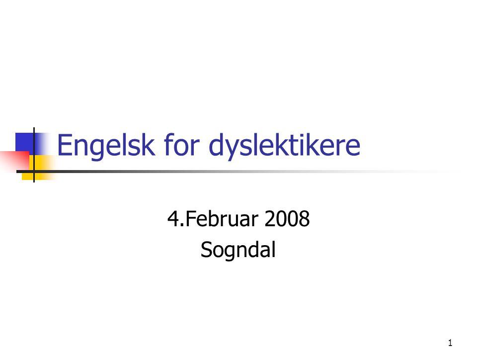 Engelsk for dyslektikere