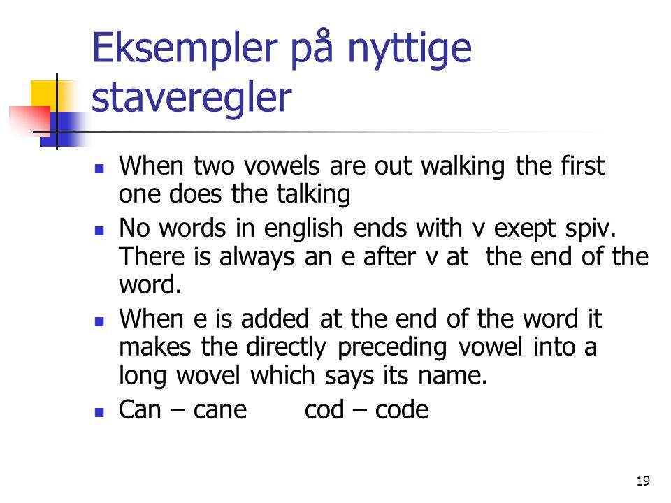 Eksempler på nyttige staveregler