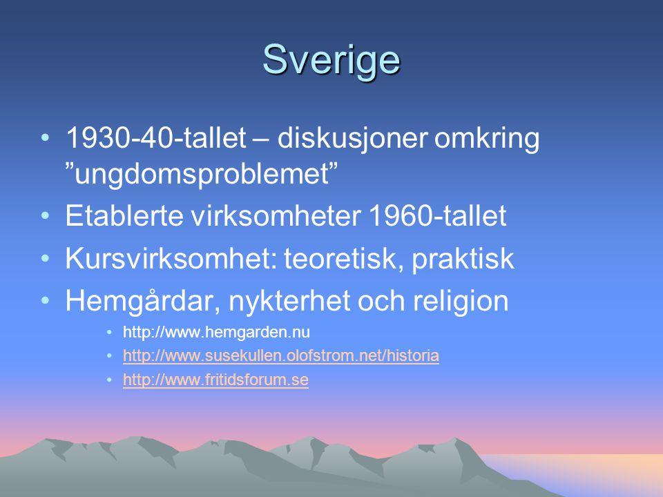 Sverige 1930-40-tallet – diskusjoner omkring ungdomsproblemet