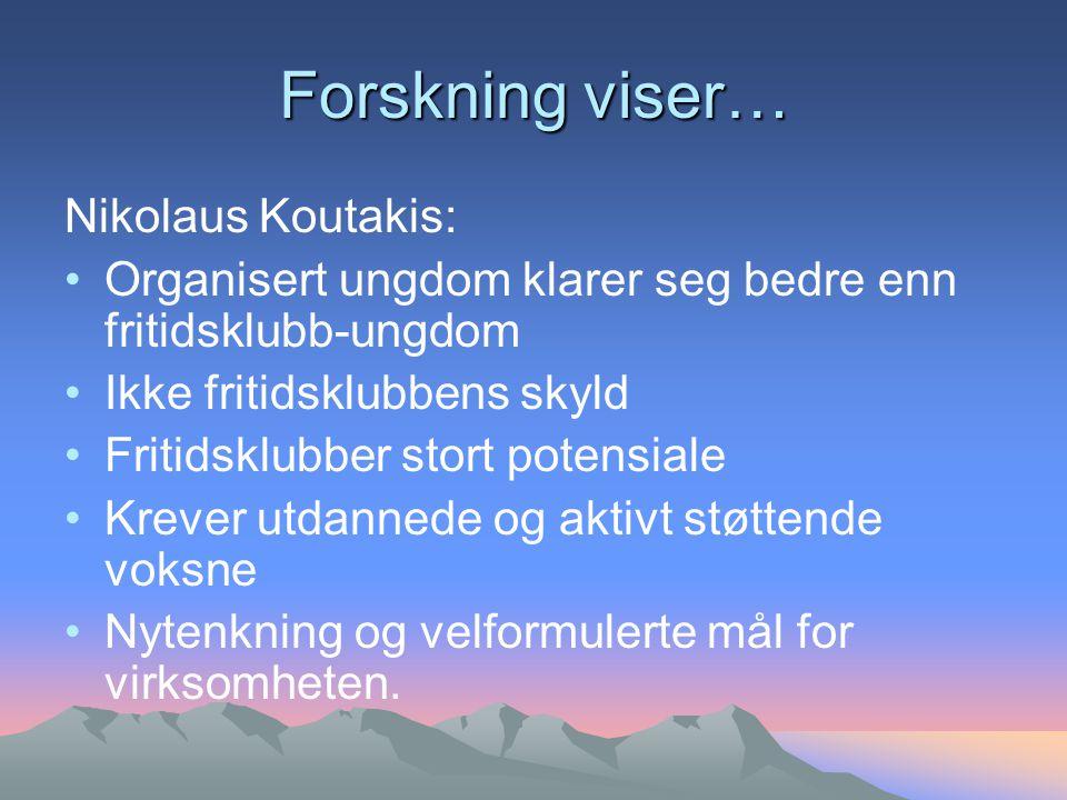 Forskning viser… Nikolaus Koutakis: