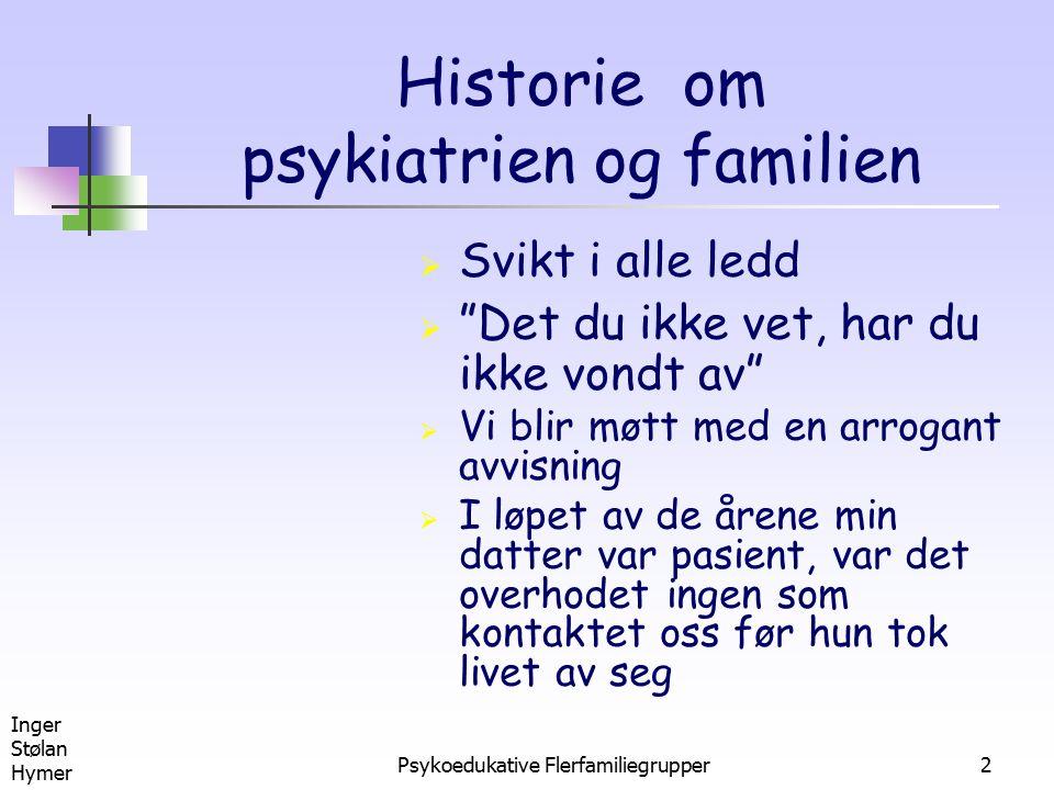 Historie om psykiatrien og familien