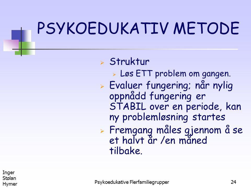 Psykoedukative Flerfamiliegrupper