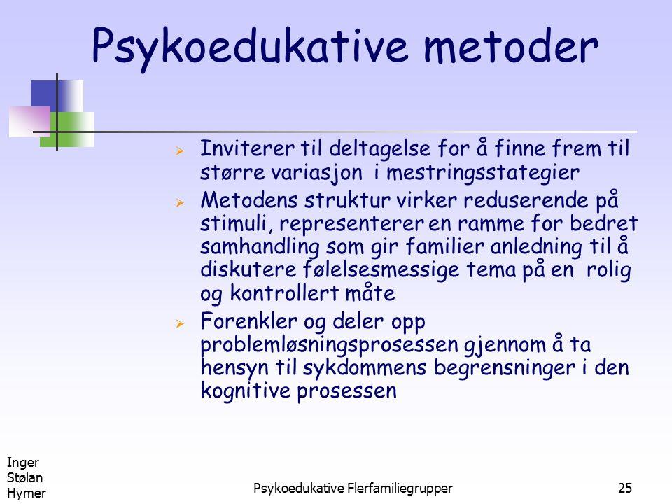 Psykoedukative metoder