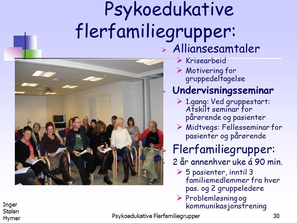 Psykoedukative flerfamiliegrupper: