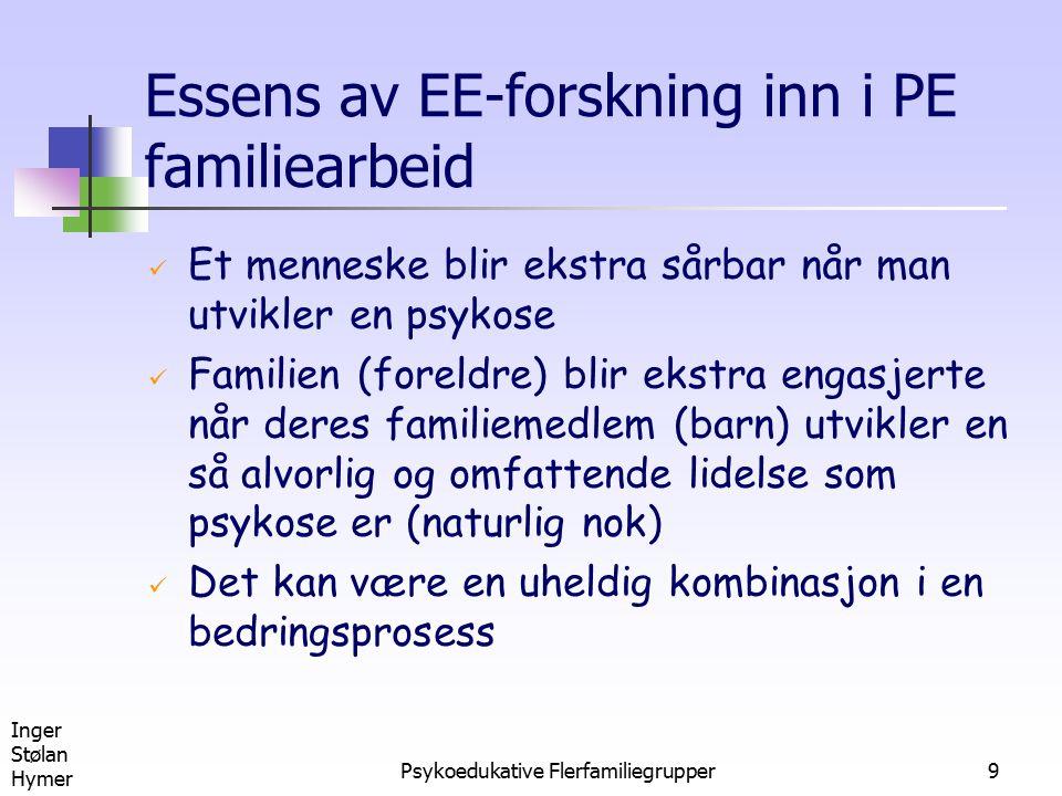 Essens av EE-forskning inn i PE familiearbeid