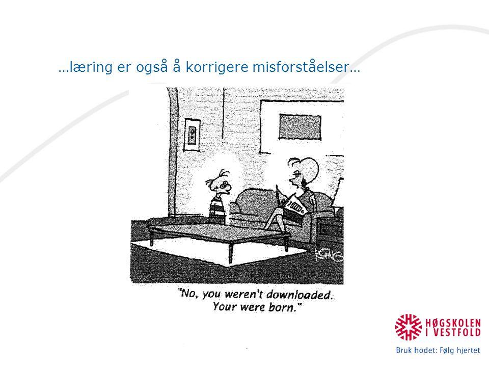 …læring er også å korrigere misforståelser…