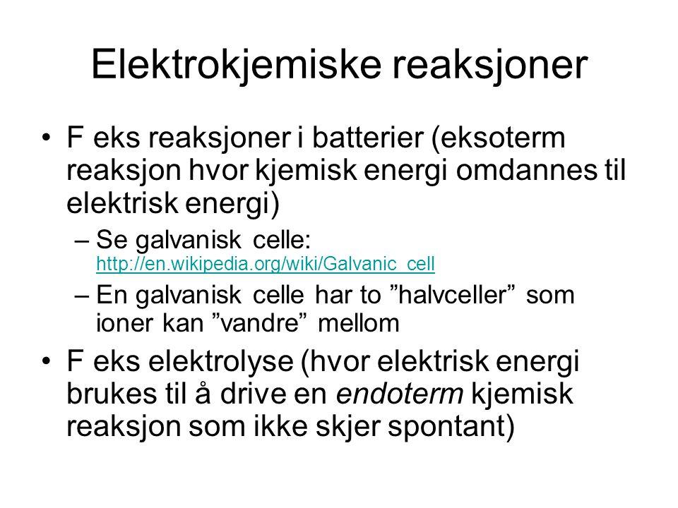 Elektrokjemiske reaksjoner
