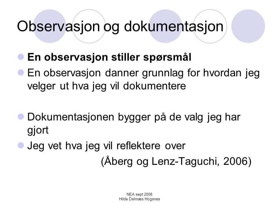 Observasjon og dokumentasjon