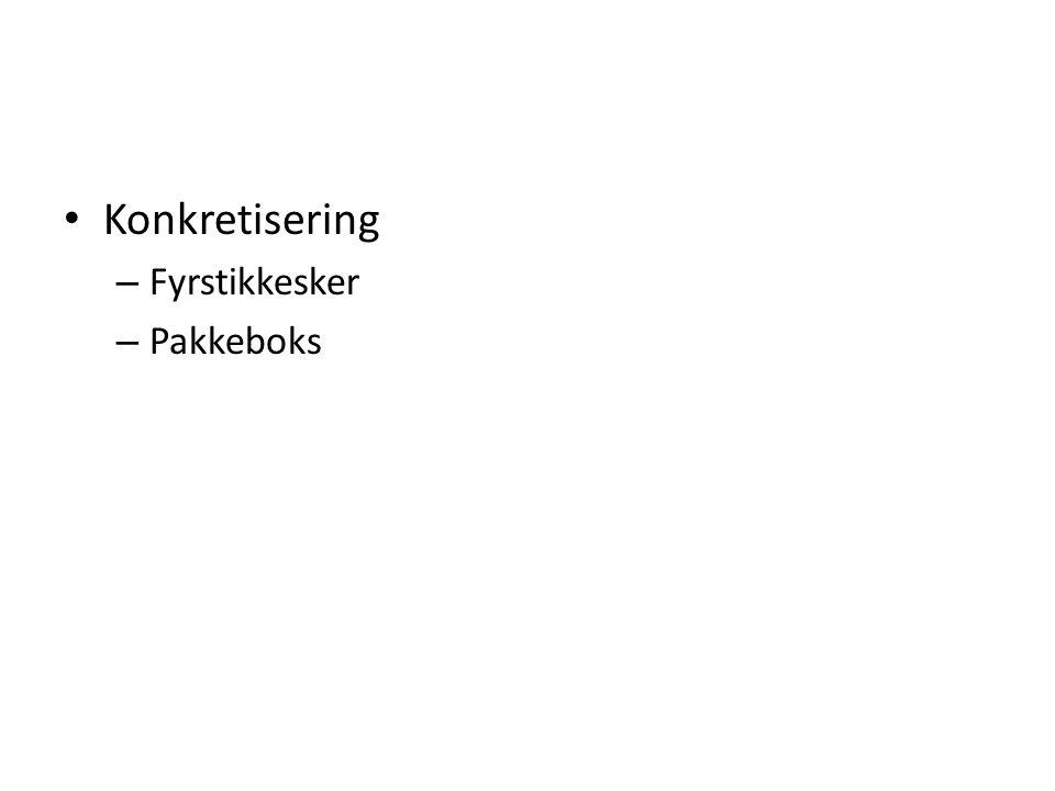 Konkretisering Fyrstikkesker Pakkeboks