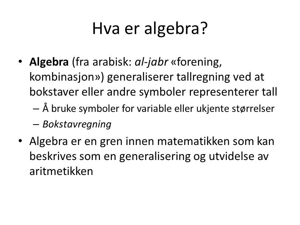 Hva er algebra