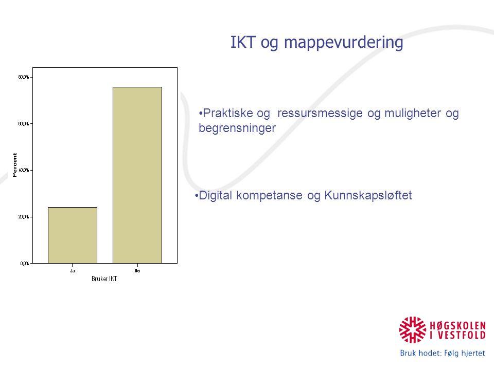 IKT og mappevurdering Praktiske og ressursmessige og muligheter og begrensninger.