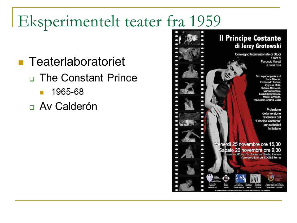 Eksperimentelt teater fra 1959