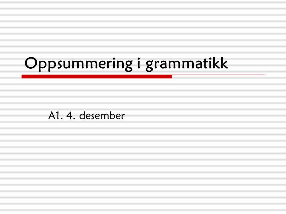 Oppsummering i grammatikk