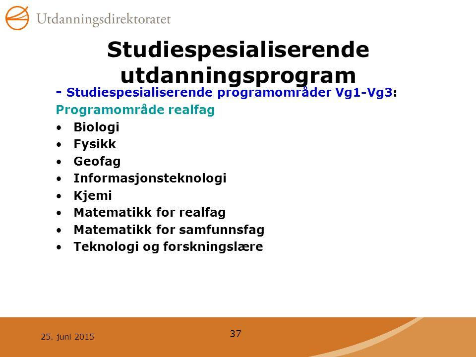Studiespesialiserende utdanningsprogram