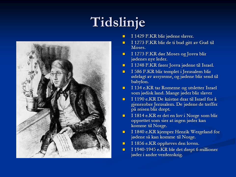Tidslinje I 1429 F.KR blir jødene slaver.