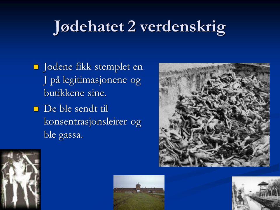 Jødehatet 2 verdenskrig