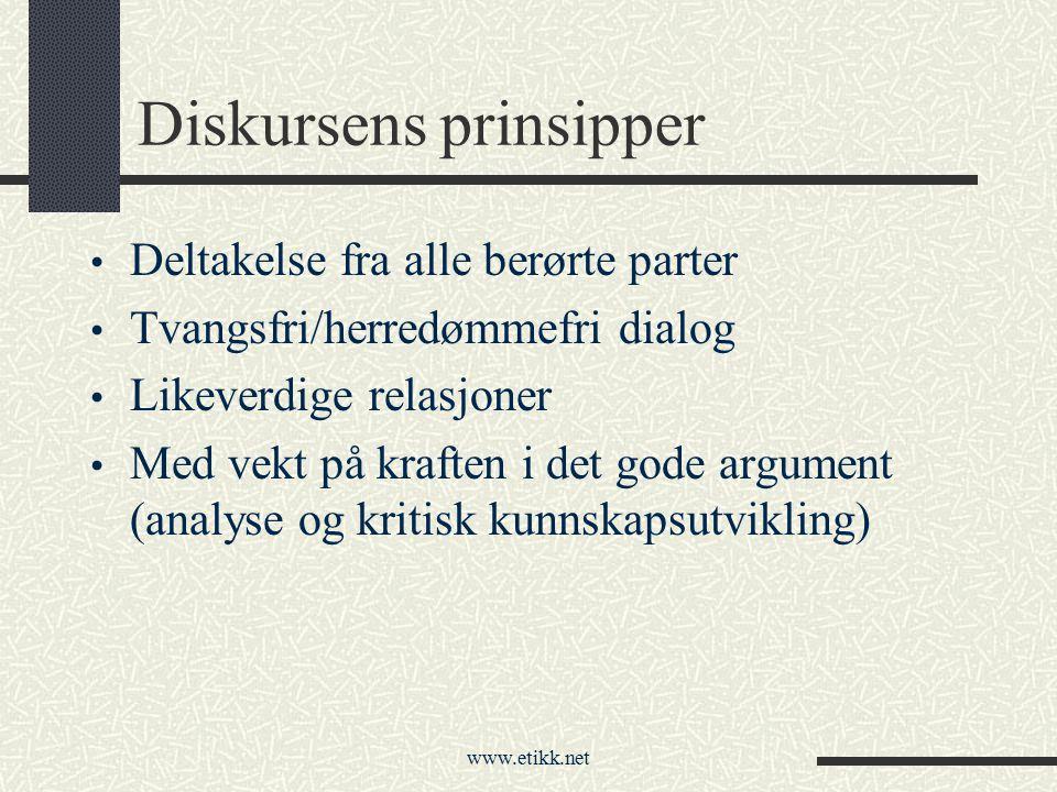 Diskursens prinsipper