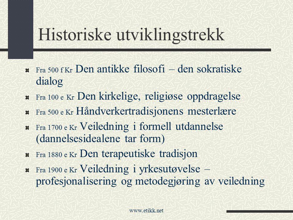 Historiske utviklingstrekk