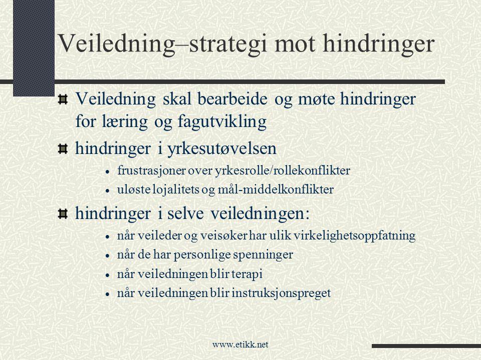 Veiledning–strategi mot hindringer