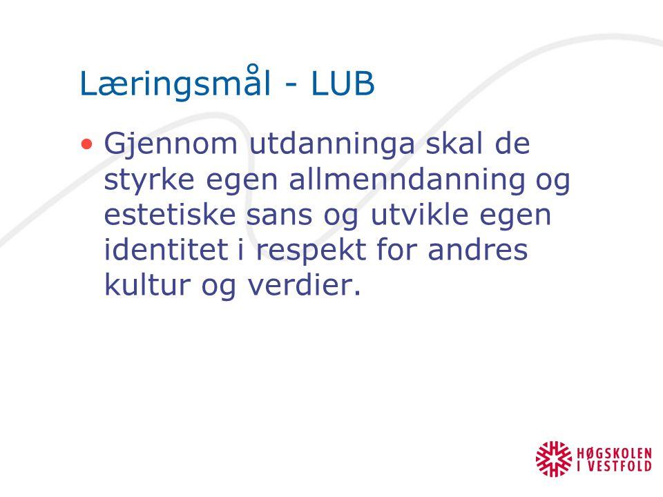 Læringsmål - LUB