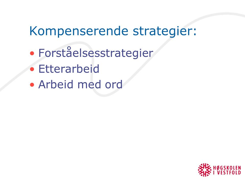 Kompenserende strategier: